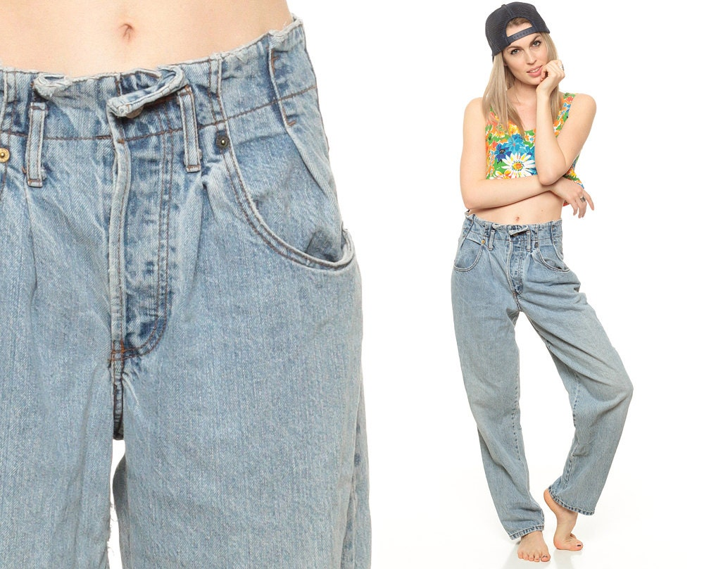 90s Baggy Jeans High Waisted GUESS Jeans 80s Denim Pants High