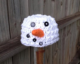 Baby Snowman Hat, Baby Christmas Hats, Christmas Photography Prop, Baby Hats, Crochet Baby hats