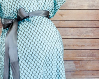Avery Maternity Delivery Gown, Robe, Headband, and Burp Pad Bundle - Hospital set to make your delivery Picture Perfect!
