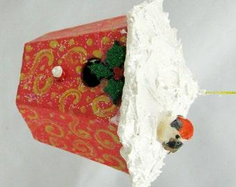 Christmas Birdhouse Ornament 108