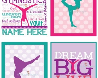 Collection of Gymnastic Wall Prints
