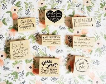 Custom Hand Lettered Return Address Stamp