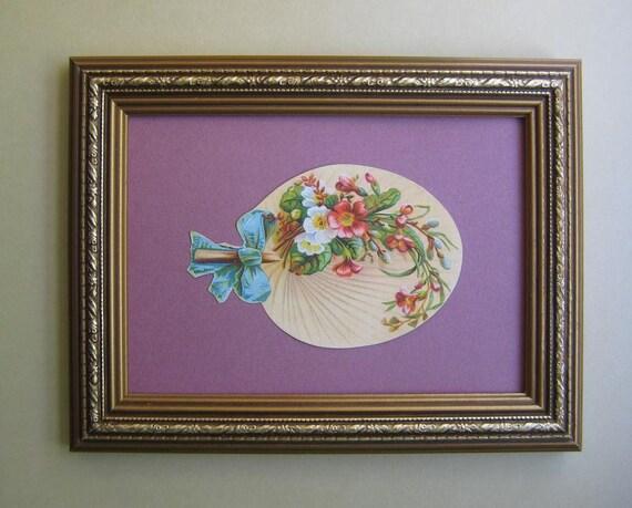Romantic Home Decor 1890's Victorian Era Die Cut Scrap Paper Fan Antique Lady's Fan Vintage Decor