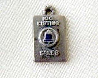 Bell Telephone Charm Vintage Sterling Silver