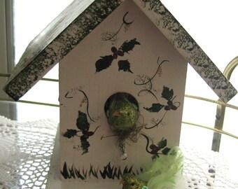 Lovely  Decorative Bird House Hand Painted Wooden Bird House