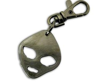 Alien Keychain by WATTO Distinctive Metal Wear-Handmade metal charm on keybob, Groomsmen, or Birthday gift