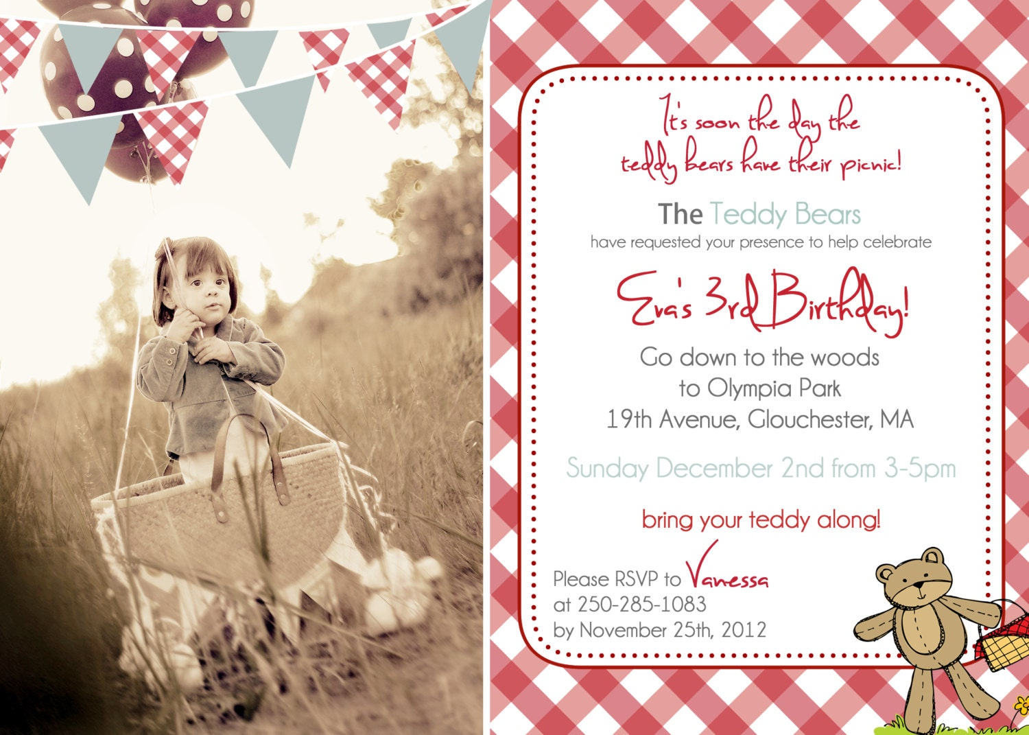 Teddy Bear Invites was adorable invitations template
