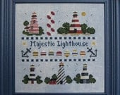 Finished and Framed Majestic Lighthouse Cross Stitch Picture