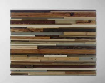 Reclaimed Wood Art - Wood Wall Art - Wooden Sculpture - Abstract Wood Art