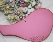 Baby Shower Wish Tree Tags - Bright Pink Birds - Baby Girl  - Birthday Wish Tags - Set of 12