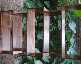 Pine Bookcase Mid Century Finished To Your Requirements