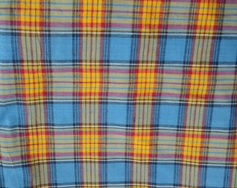 Vintage Indian Madras   Plaid BTY