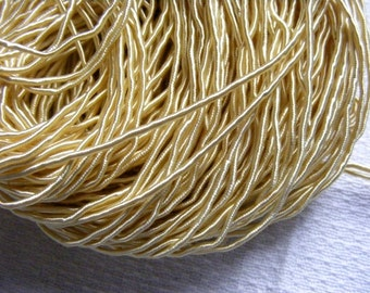 Vintage 1940's Silk Necklace Cord Cording 1/16 Inch Shimmery  Golden Yellow