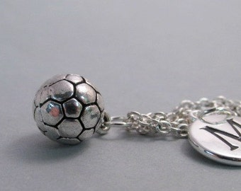 Soccer Ball  Silver Plated Jewelry Supplies