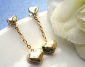 Gold Tiny Heart Post Earrings