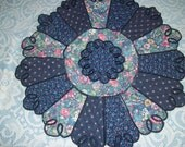 Embroidered Reversible round tablemat