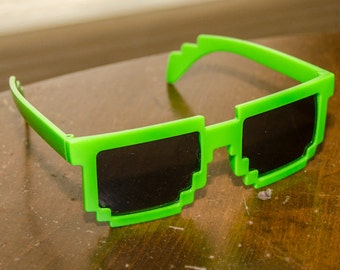 Vintage 1980s Neon Green New Wave Sunglasses