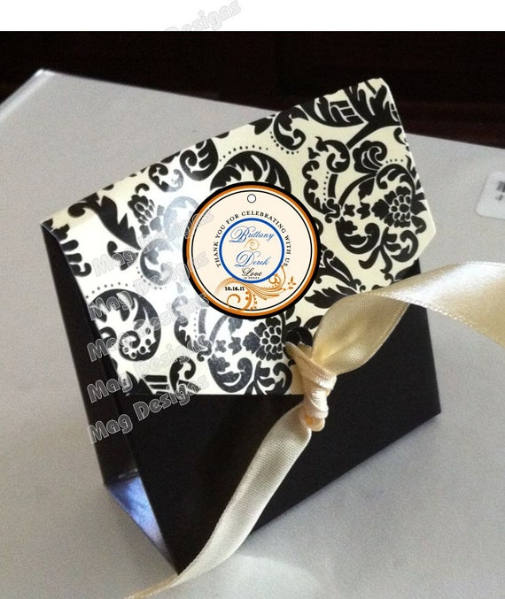 Elegant Favor Tags for Weddings and Showers Scroll Welcome Bags, gifts, wine bottles 50 2 inch