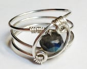 Labradorite  Silver Ring   Labradorite Jewelry    Labradorite Gemstone  Rings    Sterling Silver Ring