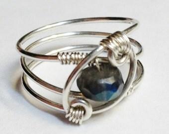 Labradorite Ring  Labradorite Jewelry  Sterling Rings for Women  Silver Ring  Rings  Sterling Silver