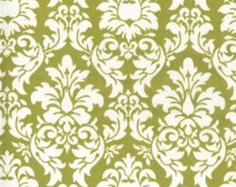 Michael Miller Dandy Damask in Avocado 1 Yard
