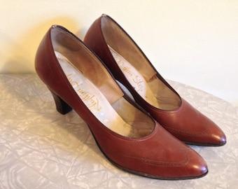 SALE! Vintage Brown Oxford Heels // Vintage Oxford Heels // Size 6 // Size 6.5