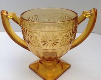 """Indiana Glass Company """"Daisy"""" Footed Sugar Bowl"""