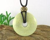 SPECIAL: Wee Lass Nursing Necklace - 35mm Green Jasper