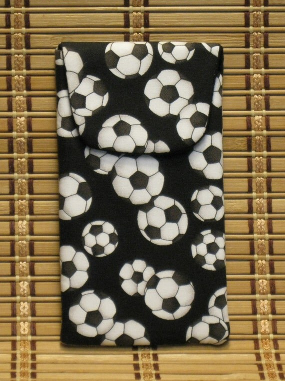Eyeglass Case / Cell Phone Case---Soccer Design with Magnetic Closure