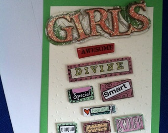 Girls are Awesome - Blank Card