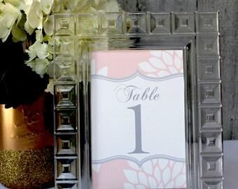 Custom Table Numbers, DIY, Printable