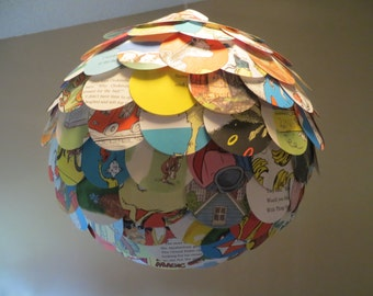 """Made to Order Giant 16"""" Chinese Paper Artichoke Lantern Recycled Seuss Pooh Disney More"""