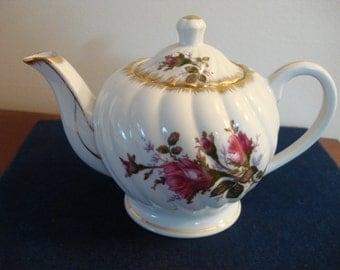 Vintage 1950's Lefton China Hand Painted Elegant Rose Teapot