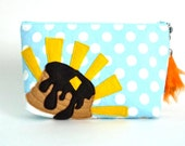 Hooray For Pancakes Pouch No.2 - Gloriously Delicious Breakfast Treat - Handmade in USA
