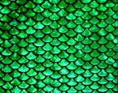Kelly Small Fish Scale Lycra Fabric