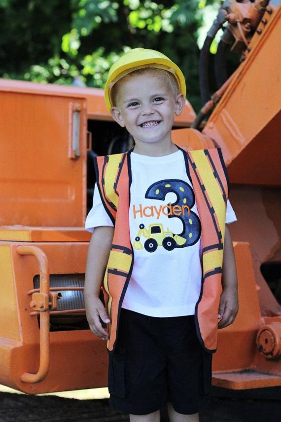 Greatstitch Boys Birthday Shirt Digger 1st Birthday 2nd Birthday 3rd Birthday Great Stitch Shirt Construction Digger Birthday Party