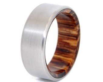 Wooden Wedding Rings, titanium ring, titanium wedding rings, Eco-friendly rings, mens ring, womens rings, wood rings - TALES OF EDEN