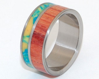 Titanium Wedding Ring, engagement rings, wedding bands, wood rings, men's wedding band, women's rings, unique wedding ring - EVERY REASON