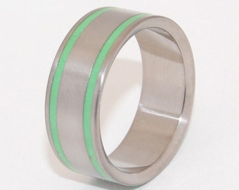 Titanium Wedding Ring, Mens Ring, Womens Ring, Unique Wedding Rings, Eco-Friendly Wedding Rings - MIEL