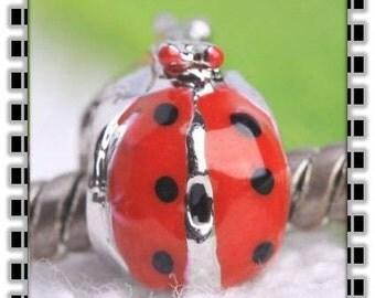 Lady Bug Charm -   Fits European Style Bracelets