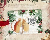 Gift Tags, Christmas Mice, Holly, Whimsical
