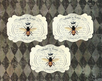 Sticker Seals French Themed Crowned Bee