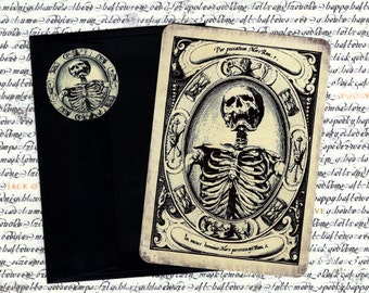Halloween Cards Gothic Skeleton Vintage Style