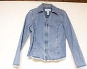 Vintage Women's Jacket - Liz Claiborne Denim Jean Jacket size medium