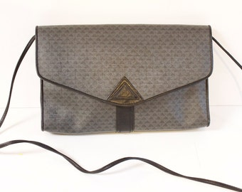 Vintage Crossbody Bag - 1984 Liz Claiborne Gray Crossbody Purse Shoulder bag
