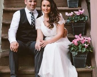 Wedding Dress | Boho Wedding Dress | Silk Wedding Dress | Vintage Style Chiffon Wedding Dress | Silk Wedding Dress | Ashley