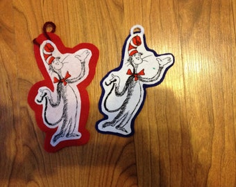 Dr. Seusd inspired Christmas Ornaments (Set of 2) not a licensed product