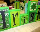 Irish - St. Patricks Day Decor - Wood Blocks Ready to ship, make a great Teacher Gift!