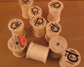 10 Styrofoam Thread Spools Random Selection 1.75 or 2.125 Inches Tall Craft Supplies