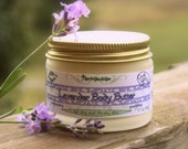 Organic Lavender Body Butter - Body lotion - all Vegan body butter - Natural moisturizer with Shea butter. 1.7 oz